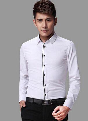 镶黑边衬衫