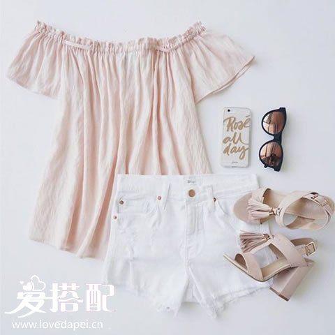 夏季可爱风穿衣搭配